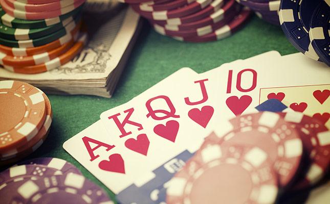 Blackjack - Kort på bordet